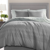 Martha Stewart Collection Eyelet Stripe 8-Pc. Comforter Set