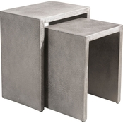 Zuo Modern Mom Nesting Cement Side Table