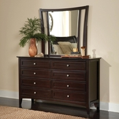 aspenhome Kensington Double Dresser and Double Dresser Mirror