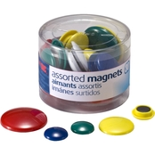 Officemate Magnet Tub Assorted Colors & Sizes, 30 ct.
