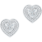 Sterling Silver Diamond Accent Fashion Earrings