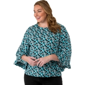 Michael Kors Plus Size Carnation Flare Sleeve Top