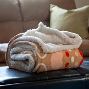 Lavish Home Fleece Sherpa Throw Blanket