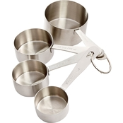 Martha Stewart Collection Stainless Steel Measuring Cups 4 pc. Set
