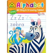 School Zone Alphabet Writing and Drawing Tablet Workbook