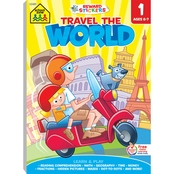 School Zone Travel the World First Grade Workbook