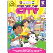 School Zone Explore the City Kindergarten Workbook
