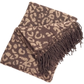 Lavish Home Jacquard Throw Blanket