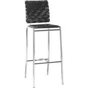 Zuo Modern Criss Cross Barstool Black (Set of 2)