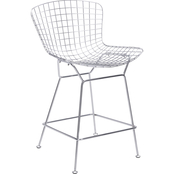 Zuo Modern Wire Counter Chair Chrome (Set of 2)