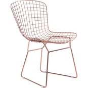 Zuo Modern Wire Dining Chair Rose Gold (Set of 2)
