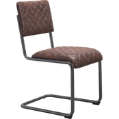Zuo Modern Father Dining Chair Vintage Brown (Set of 2)