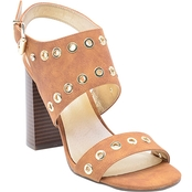 G by Guess Deluxe Eyelet Stacked Heel Sandals