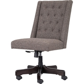 Ashley Graphite Button Back Swivel Office Chair