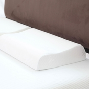 Lavish Home Remedy Large Contour Memory Foam Pillow with Cover