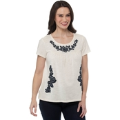 Cherokee Plus Size Large Embroidered Top
