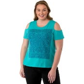 Cherokee Plus Size Cold Shoulder Tee
