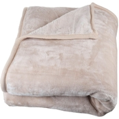 Lavish Home Solid Soft Heavy Thick Plush Mink Blanket