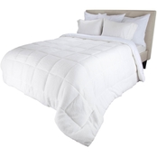 Lavish Home Bluestone Oversized Reversible Down Alt Comforter with Sherpa