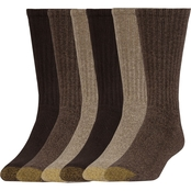 Gold Toe Men's Premium Harrington Crew Socks 6 Pk.