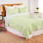 C&F Home Boxwood Abbey 3 Pc. Reversible King Quilt Set