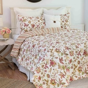 C&F Home Jacobean Pink Reversible Quilt Set