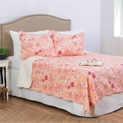 C&F Home Lagoon Peach Reversible Quilt Set