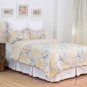 C&F Home Taupe Shells Quilt Set