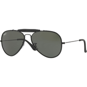 Ray-Ban Metal Crystal Aviator Solid Sunglasses 0RB3422Q