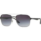 Ray-Ban Metal Policarbonate Square Gradient Sunglasses 0RB3570