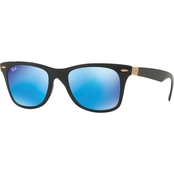 Ray-Ban Injected Policarbonate Square Mirrored Sunglasses 0RB4195