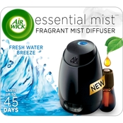 Air Wick Essential Oils Diffuser Mist Kit Fresh Water Breeze and Refill