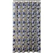 Bath Bliss Geometric Design Shower Curtain