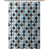 Bath Bliss Circle Design Shower Curtain
