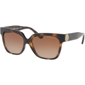 Michael Kors Injected Square Polycarbonate Standard Gradient Sunglasses 0MK2054