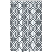 Bath Bliss Dobie Weave Shower Curtain Set in Hexagon Design