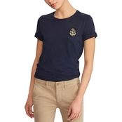 Lauren Ralph Lauren Bullion Patch Cotton Tee