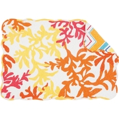 C & F Home Tropical Coral Reversible Placemat 6 pk.