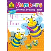 School Zone Numbers Writing & Drawing Tablet Workbook