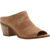 Lucky Brand Open Toe Nubuck Covered Low Heel Slide
