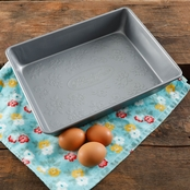 Pioneer Woman Timeless Floral 9 x 12.5 x 2.5 in. Cake Pan, Rectangular, Metal