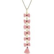 Lucky Brand Mauve Fringe Y Necklace