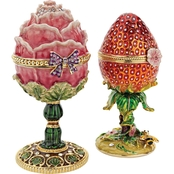 Design Toscano Gardens Treasures Collection Romanov Style Enameled Egg Set