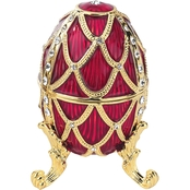 Design Toscano Golden Trellis Collection Romanov Style Enameled Egg