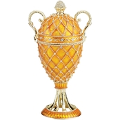 Design Toscano Grand Trophy Collection Romanov Style Enameled Egg