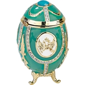 Design Toscano Russian Imperial Eagle Collection Romanov Style Enameled Egg