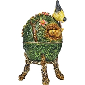 Design Toscano Springtime Collection Romanov Style Enameled Egg, Ruling the Nest
