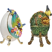 Design Toscano Springtime Collection Romanov Style Enameled Eggs Set