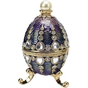 Design Toscano The Bogdana Collection Romanov Style Enameled Egg, Valentina