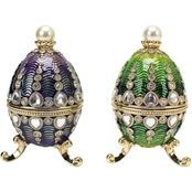 Design Toscano The Bogdana Collection Romanov Style Enameled Egg Set
